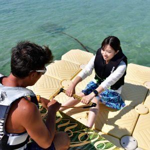 フサキビーチのアクティビティ「ウエイクボードスクール」