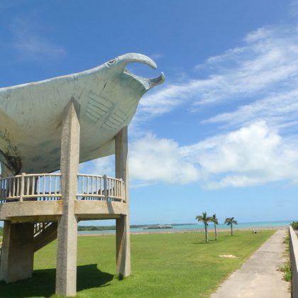 小浜島のマンタ像