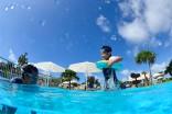 キッズプールでは3つのエリアでお子様の年令に合った水遊びをお楽しみ頂けます