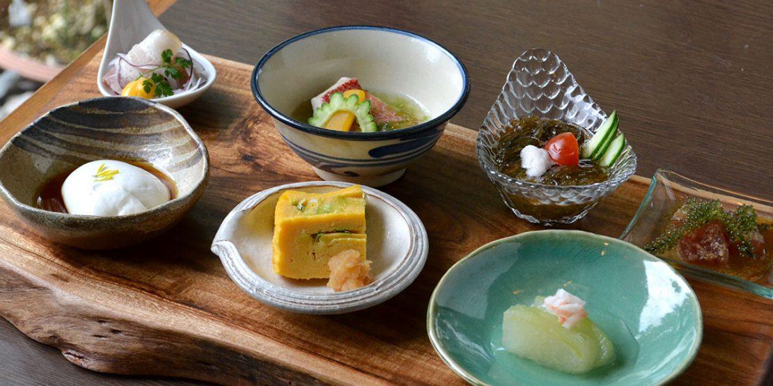 7種類の小皿で彩られたヌチグスイプレート