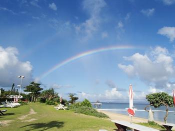 フサキビーチの虹