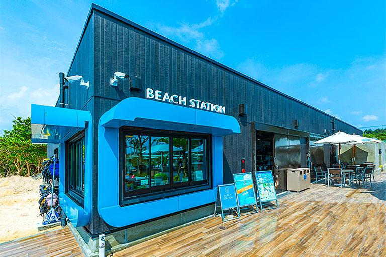 フサキビーチの窓口ビーチステーション外観