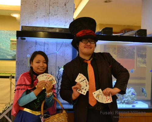 フサキのハロウィンイベントに出演のマジシャン翔斗