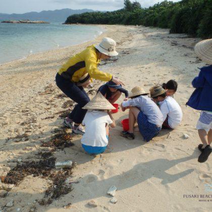 フサキビーチのキッズ体験プログラムの様子