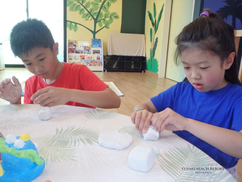 フサキの子供教室「シーサー作り」
