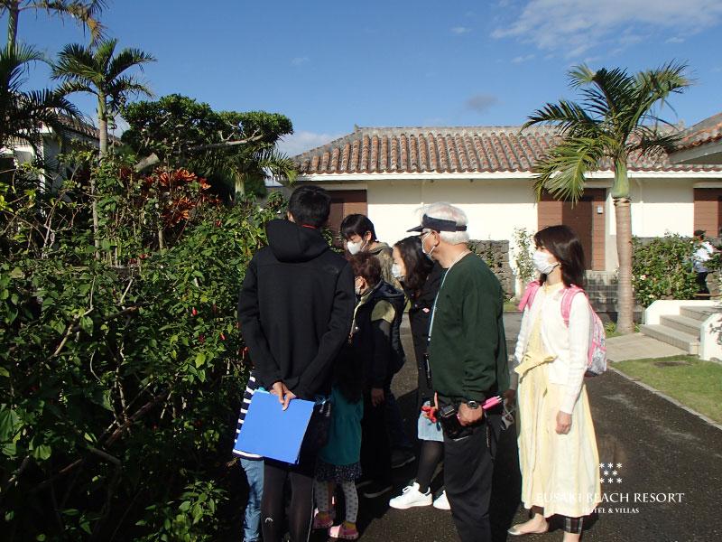 フサキビーチリゾートでのガーデン散策会の様子